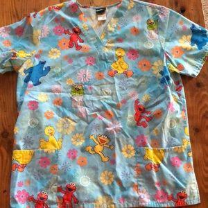 Sesame Street scrub top for sale